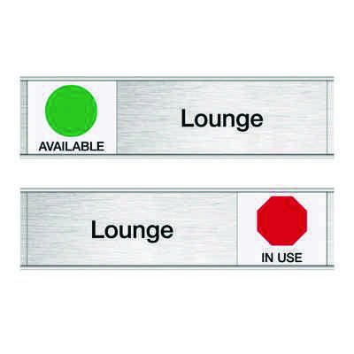 Lounge-Available/In Use - Engraved Facility Sliders