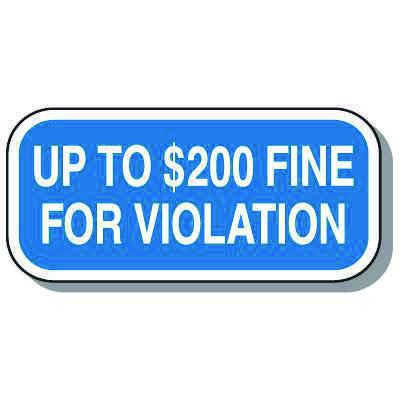 Minnesota State Handicap Signs - Up To $200 Fine