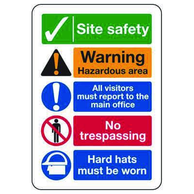 ANSI Signs - Site Safety Procedures