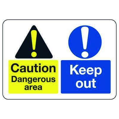 ANSI Signs - Caution Dangerous Area Keep Out
