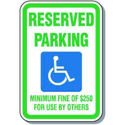 Nevada State Handicap Signs - Reserved Parking