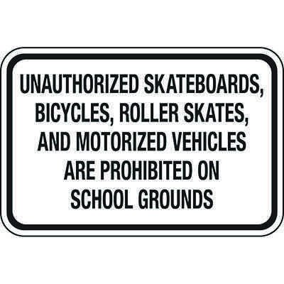 No Bikes, Skateboards, Skates at School