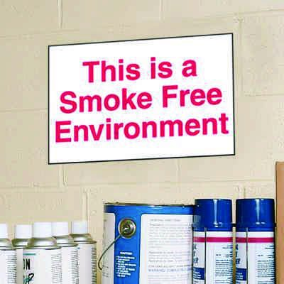 This Is A Smoke Free Environment Signs - Aluminum, Plastic or Vinyl