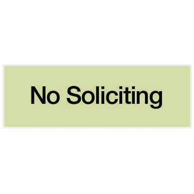No Soliciting - Engraved Standard Worded Signs