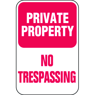 Property Security Signs - Private No Trespassing