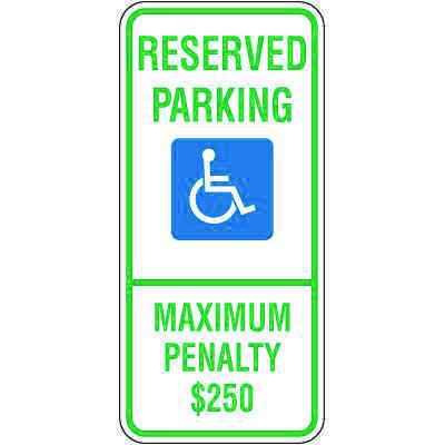 North Carolina State Handicap Signs - Reserved Parking