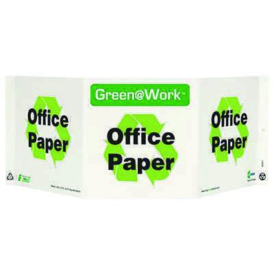 Office Paper Tri View Recycling Sign