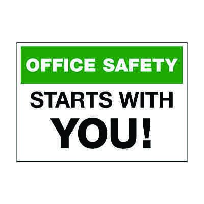 Office Safety Starts With You Label