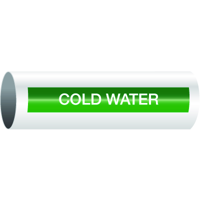Opti-Code™ Self-Adhesive Pipe Markers - Cold Water