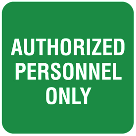 Authorized Personnel Only Optima Wall Mount Signs