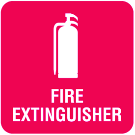 Fire Extinguisher Optima Wall Mount Signs