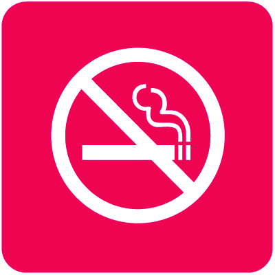 No Smoking Optima Wall Mount Signs