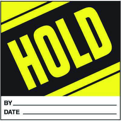 Hold Handling Label