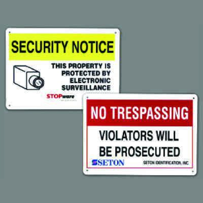 Custom Personalized Security Signs