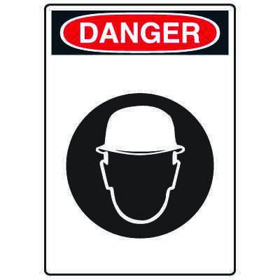 Pictogram Signs - Wear Head Protection