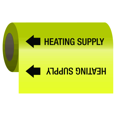 Self-Adhesive Pipe Markers-On-A-Roll - Heating Supply