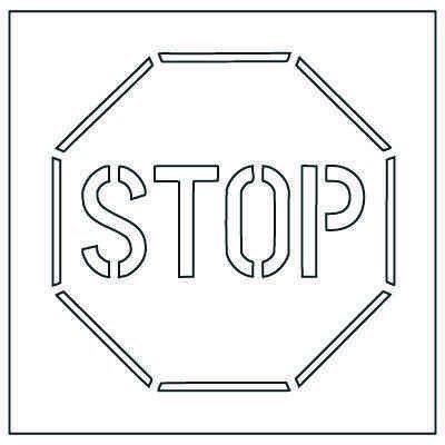 Stop Sign Stencils