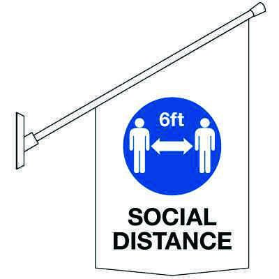 COVID-19 Safety Banners - Social Distance Symbol