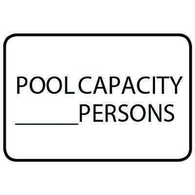 Pool Capacity - Semi-Custom Pool Signs