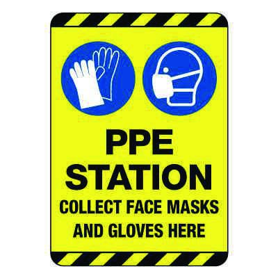 PPE Station Construction Site Sign