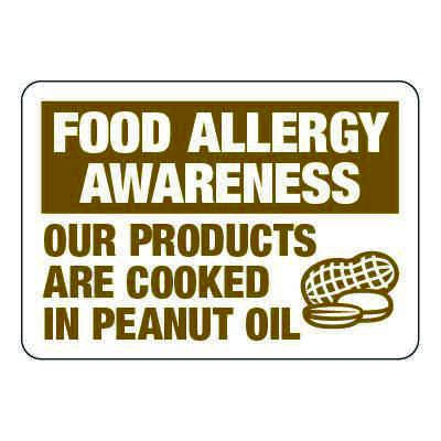 Products Cooked in Peanut Oil - Food Allergy Awareness Signs