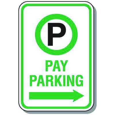 Property Parking Signs - Pay Parking Only (Right Arrow)