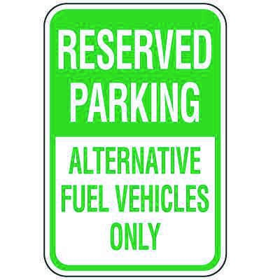 Property Parking Signs - Reserved Parking Alternative Fuel Vehicles
