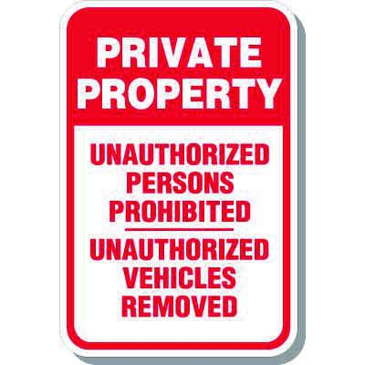 Outdoor Property Protection Signs