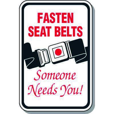Property Protection Signs - Fasten Seat Belts