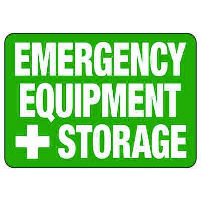 Emergency Equipment Storage - PPE Sign