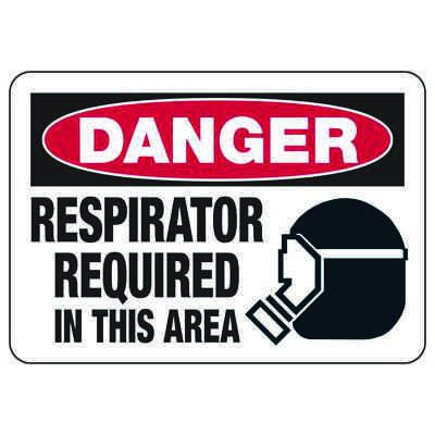 Danger Respirator Required In This Area - PPE Signs