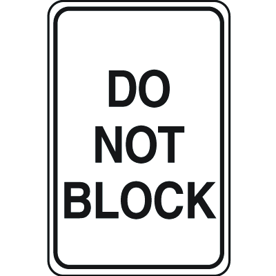 Plastic Parking Signs - Do Not Block