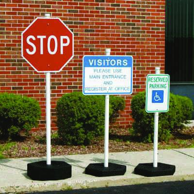 Rubber Base Sign Post Systems