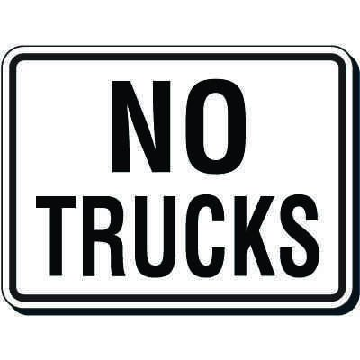 Reflective Parking Lot Signs - No Trucks