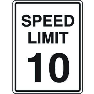 10 MPH Speed Limits Signs