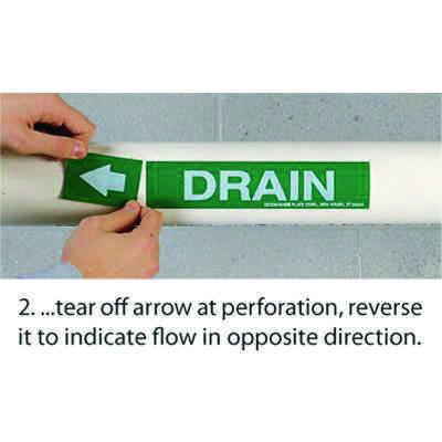 Roll Form Self-Adhesive Pipe Markers - Acid