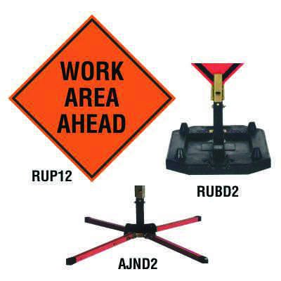 Roll-Up Sign - Work Area Ahead