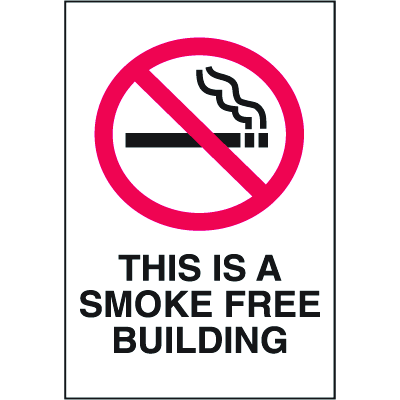 Safety Door And Window Decals- This Is A Smoke Free Building
