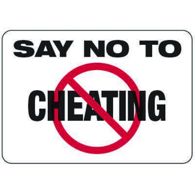 Say No To Cheating - Classroom Signs