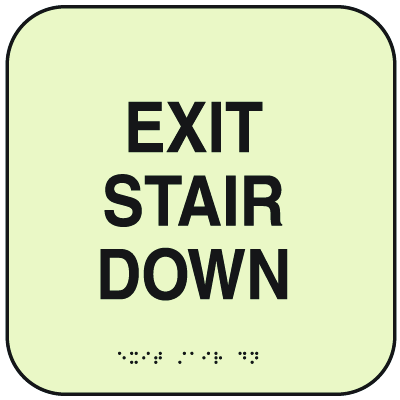 SetonGlo™ Signs - Exit Stair Down
