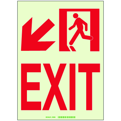 Luminous Exit and Path Marker Signs - Exit
