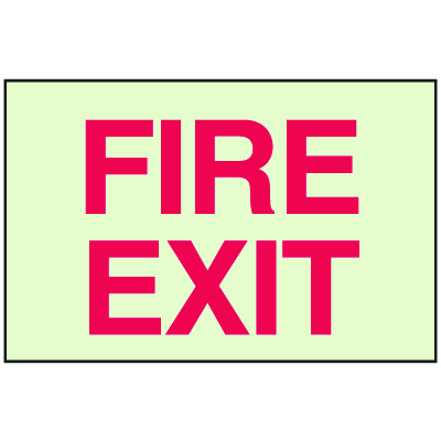 Fire Exit - Glow-In-The-Dark Fire Exit Sign