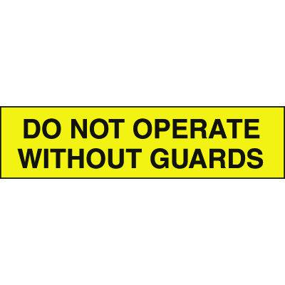 Setonsign® Value Packs - Do Not Operate Without Guards