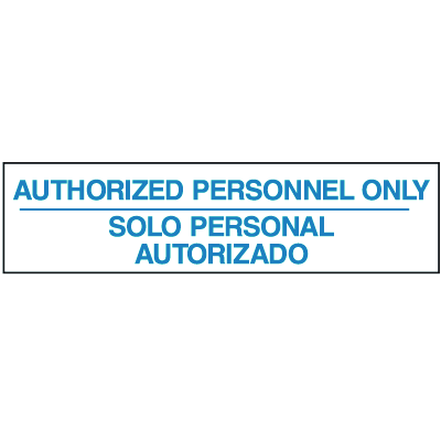 Setonsign® Value Packs - Authorized Personnel Only (Bilingual)