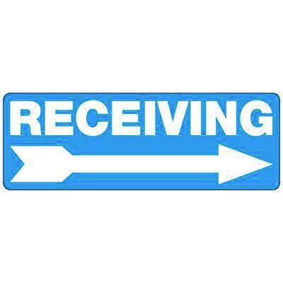 Receiving (Right Arrow) - Industrial Shipping and Receiving Signs