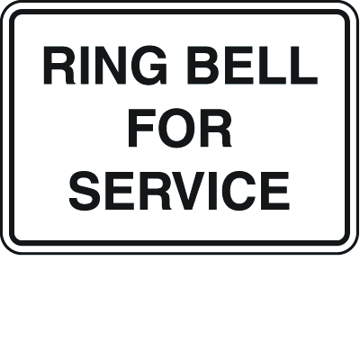 Shipping and Receiving Signs - Ring Bell For Service