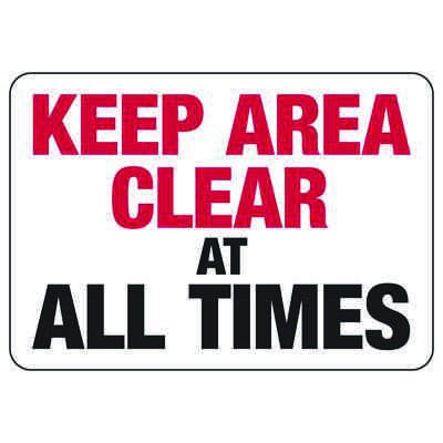 Keep Area Clear - Industrial Slip and Trip Sign