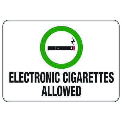 Electronic Cigarettes Allowed - No Smoking Sign