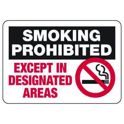 Smoking Prohibited (Graphic) - Industrial Smoking Signs