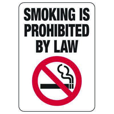Connecticut Smoking Prohibited By Law Sign